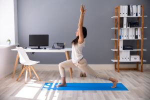 Learn stretches when working at home